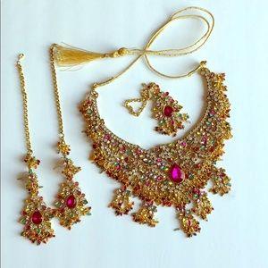 Jewelry - Bridal necklace set indian/pakistani party wear